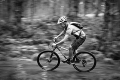 Ritchey McCaw (ibikenz) Tags: blackandwhite bw bike bicycle blackwhite mountainbike richie mtb ritchey pan panning murray muz mccaw woodhill rx100 p29er sonycybershotdscrx100