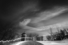 (al0589) Tags: old bw distortion canada windmill stone night clouds canon stars moulin star quebec astro 7d 1022mm 1022 chateauguay 22mm 1686 canon1022 induro ilestbernard ilesaintbernard canon7d indurotripods