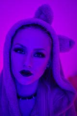 Jenya `15 (Vasilij Betin) Tags: pink winter shadow portrait people color girl mystery night digital 35mm dark eyes women asia punk dj grunge voigtlander grain hard free minimal teen withoutphotoshop nomodel