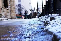 Sidewalk Slush (Jawor_Photography) Tags: city winter snow chicago vortex ice frozen downtown watertower salt slush sidewalk snowing polar blizzard goldcoast polarvortex jaworphotography