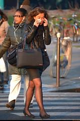 Heartache - Chagrin d'amour (Olivier Simard Photographie) Tags: morning woman black paris sexy stockings girl seine sadness pain tears noir îledefrance dress legs femme sensuality miniskirt fille sophisticated jambes tristesse larmes regard heartache elegance candidshot désir matinée parisienne élégance cuir chagrin séduction sensualité scènederue escarpin féminité placedelanation seamedstockings minijupe chagrindamour bascouture oliviersimardphotographie