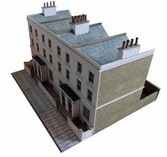 Terraced houses (kingsway john) Tags: houses house scale model card kit oo gauge terraced 176 terb kingswaymodels