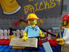 Another job done (Paranoid from suffolk) Tags: workers lego minifigs carpenter series13 minifigures 2013
