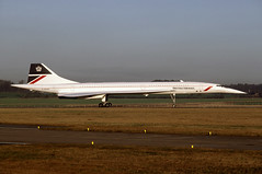 G-BOAD Concorde EGPK 1987 (MarkP51) Tags: concorde britishairways airliners prestwick pik gboad egpk aviationphotography bacaerospatiale