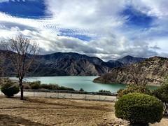 Pyramid Lake (tinyfroglet) Tags: california sky cloud mountain lake nature water pyramid dam reservoir