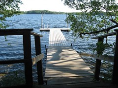 Puumerkki cottage waterfront dock