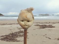 (Erzsébet Báthory) Tags: winter sea beach mar sand doll playa invierno concha palos juguete muñeca marea suances