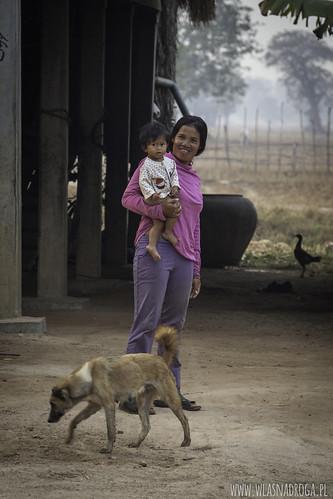 Rodzina z kabodżańskiej wsi