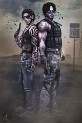 Want to join a Hunt? (_Adra_ * Taking Clients*) Tags: friends urban photoshop duo apocalypse zombies walkers hunters outbreak roleplay
