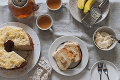 banana chiffon cake (asri.) Tags: onwhite topview 50mmf14 foodphotography 2016 foodstyling bakinghomemade