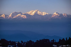 Kanchenjunga Dawn (Dan Thory) Tags: blue light sunlight mountain mountains beautiful beauty sunrise landscape outdoors peace outdoor calming peaceful calm tranquil warmlight bluecolor bluecolour
