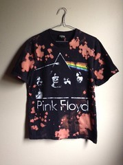 One of a Kind Splatter Bleached Pink Floyd T Shirt (shopthegasstation) Tags: ladies girls moon black shirt altered dark clothing top side band bleach prism tshirt guys womens pinkfloyd gasstation clothes mens jersey etsy dye distressed tee unisex destroyed splatter bleached dyed splattered
