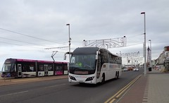 LSK831 National Express on the move along Blackpool Promenade (j.a.sanderson) Tags: volvo coach hamilton parks move national elite promenade express ta blackpool along coaches originally plaxton lsk831 b13rt yx14sgu