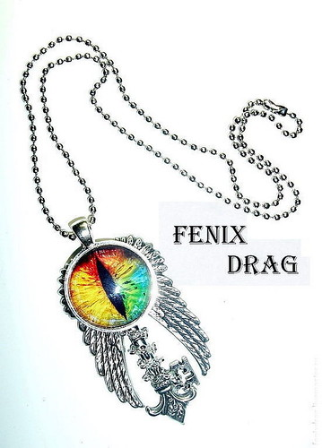 "Pendant - key with wings ""№9"" Rainbow - dragon eyes ""steampunk, fantasy, Victorian, Vintage, Gothic jewelry"
