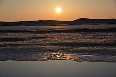 Lake MI 5 (Meahgan Goeman) Tags: winter sunset sea sky ice beach nature water landscape coast frozen outdoor dusk lakemichigan shore serene