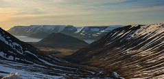 when you finally reach the top of the pass road ... (lunaryuna) Tags: sky panorama sunlight snow mountains ice beauty season landscape coast iceland spring vista fjord lunaryuna westfjords mountainrange passroad panoramicviews weathermood icelandicspring seasonalwonders