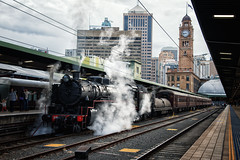 Wintering in the Highlands (SJB Rail) Tags: winter cold sydney railway trains steam valley mikado lachlan railroads 5917