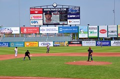 Jake Thompson (jpellgen) Tags: ri travel usa sports field boston america spring nikon baseball stadium may redsox newengland sigma rhodeisland pawsox lehighvalley minorleague pawtucket 2016 mccoystadium triplea samtravis 1770mm ironpigs d7000 jakethompson
