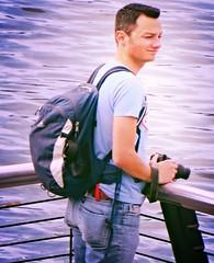 (ManontheStreet2day) Tags: camera boy ass belt butt tshirt twink jeans backpack bluejeans