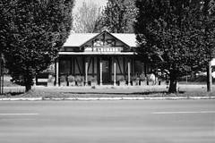 La vecchia stazione del villaggio - The old village railway station. (sinetempore) Tags: trees blackandwhite alberi torino railwaystation turin stazione biancoenero villaggioleumann leumannvillage lavecchiastazionedelvillaggio theoldvillagerailwaystation