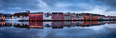 Dawn reflections at Stavanger's city harbour. (Matthias Dengler || www.snapshopped.com) Tags: sunset panorama storm reflection art water norway architecture landscape dawn stavanger long exposure cityscape harbour fine matthias nordic scandinavia hdr cloudscape dengler snapshopped