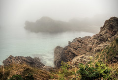 Fog on the rocks Alderney (neilalderney123) Tags: weather fog landscape rocks foggy olympus alderney 2016neilhoward