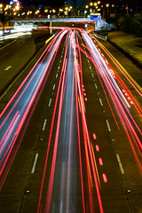 Va expresa (Italo Temoche) Tags: bridge lightpainting cars night photo nikon lima path free brigde sanisidro