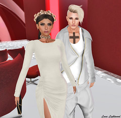 Hanna Luna + Justin Bieber (Hannah Luna Naimarc: Miss V Chile 2016) Tags: secondlife justinbieber music fashion event mrvirtualworld mrvl competition 007 rama moderncouture tattoos beliebers white red