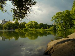 Central Park Scene, before the rain, Turtle Pond (kusula) Tags: centralpark turtlepond