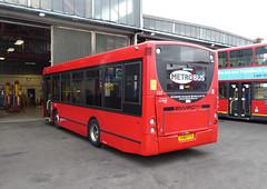 GAL MB 153 - YX60FTY - NSR - BX BEXLEYHEATH BUS GARAGE - SAT 19TH MAR 2016 (Bexleybus) Tags: bus london ahead kent garage go route 200 dennis enviro metrobus tfl 153 bexleyheath adl b14 bx goahead yx60fty