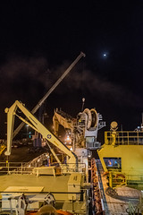 Crane Sky (SPMac) Tags: moon night out lights wire support mt drum crane vessel ghana forza change service rem finder ssv reeve supply maersk takoradi subsea 6022