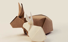 How to Fold a Cute Origami Bunny Rabbit Ver.2 (PapercraftSquare) Tags: rabbit bunny easter origami howto tutorial