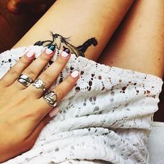 #hand #nails #nailart #manicure #opi #essie #mac #maccosmetics #matte #dress #white #legs #tan #tattoo (annabochkareva) Tags: white tattoo mac hand dress legs tan rings nails manicure matte nailart essie maccosmetics opi