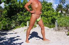 green asym entr (bmicro2000) Tags: man male public one shaved banana thong hammock gstring asymmetric sided manthong minimalswimwear microkini microbeachwear