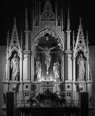 PittsburghCathedral (christopher_harness) Tags: blackandwhite bw canon eos blackwhite catholic pittsburgh cathedral pennsylvania crucifixion 700d rebelt5i
