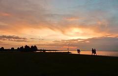 Sunset Strollers (nelhiebelv) Tags: lakeerie toledo strollers cloudsstromssunsetssunrises