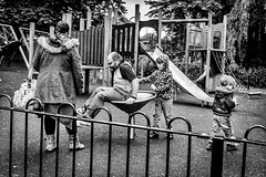 """My turn, Dad."" (Hugh Rawson) Tags: godalming streetphotograph monochrome street mono streetphotography bw urban blackandwhite uk surrey"
