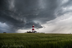 Stormy Day (chunder1974) Tags: happisburgh storm cell supercell fields lighthouse seaside clouds norfolk beach canon samyang