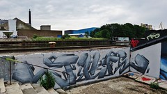 Mad Juice / Dok Noord - 31 mei 2016 (Ferdinand 'Ferre' Feys) Tags: streetart graffiti belgium belgique belgië urbanart graff ghent gent gand graffitiart arteurbano artdelarue urbanarte madjuice