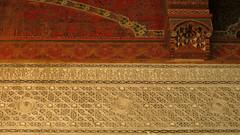 Bahia Palace Cornice (macloo) Tags: architecture design morocco moorish marrakech decor stucco bahiapalace