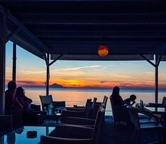 Sunset  View ( as seen from Blue Waves Cafe-Bar - Myrina on Lemnos (Olympus OMD EM5II & mZuiko 7-14mm Pro Wide Zoom (1 of 1) (markdbaynham) Tags: sunset colour clouds island greek view zoom hellas evil olympus mount greece grecia pro gr zuiko omd athos csc oly mz limnos hellenic m43 zd mft lemnos myrina em5 mirrorless micro43 microfourthird micro43rd mzuiko m43rd em5ii zuikolic