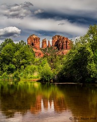 A Cathedral Reflection (slava_kushvalieva) Tags: arizona landscape spring desert sedona cathedralrock 2016