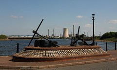 Anchors And A Cooling Tower. (neilh156) Tags: anchor coolingtower manchestershipcanal ellesmereport ellesmereportboatmuseum nationalwaterwaysmuseum