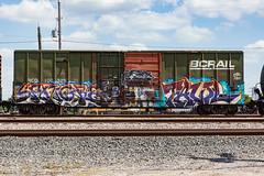 (o texano) Tags: bench graffiti texas fb houston trains freights oddone benching sangra tawl