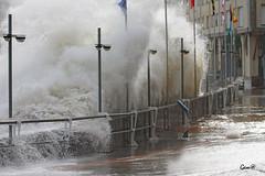 Imparable (lesxanes) Tags: ocean winter seascape beach canon coast waves asturias playa luanco invierno olas temporal eos1100d