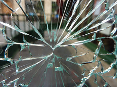Center of the break (Monceau) Tags: light abstract texture broken glass point shattered cracked radiating