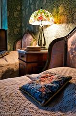 Room (melike erkan) Tags: lamp zeiss vintage bed dof room sony historic retro pillow needlepoint nostalgic mansion 24mm fingerlakes yesteryear canandaigua carlzeiss nostagia westernny sonnenbergmansion sonya6000