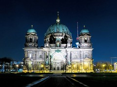 Berlin Cathedral Church (Berliner Dom) (Matthias Harbers) Tags: life city travel sky building berlin church skyline architecture night photoshop canon germany landscape lights 1 evening licht inch cityscape darkness cathedral nacht x powershot elements labs dxo g3 topaz berlinerdom lampen superzoom g3x