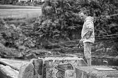 Stphane, the fisherman (guysamsonphoto) Tags: bw fisherman pcheur niksilverefexpro guysamson sony70200f4 sonyalpha7rmkii