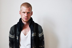Braces and cardigan (Reindb) Tags: white fashion composition photography braces modeling clean buzzcut cardigan direct malemodel